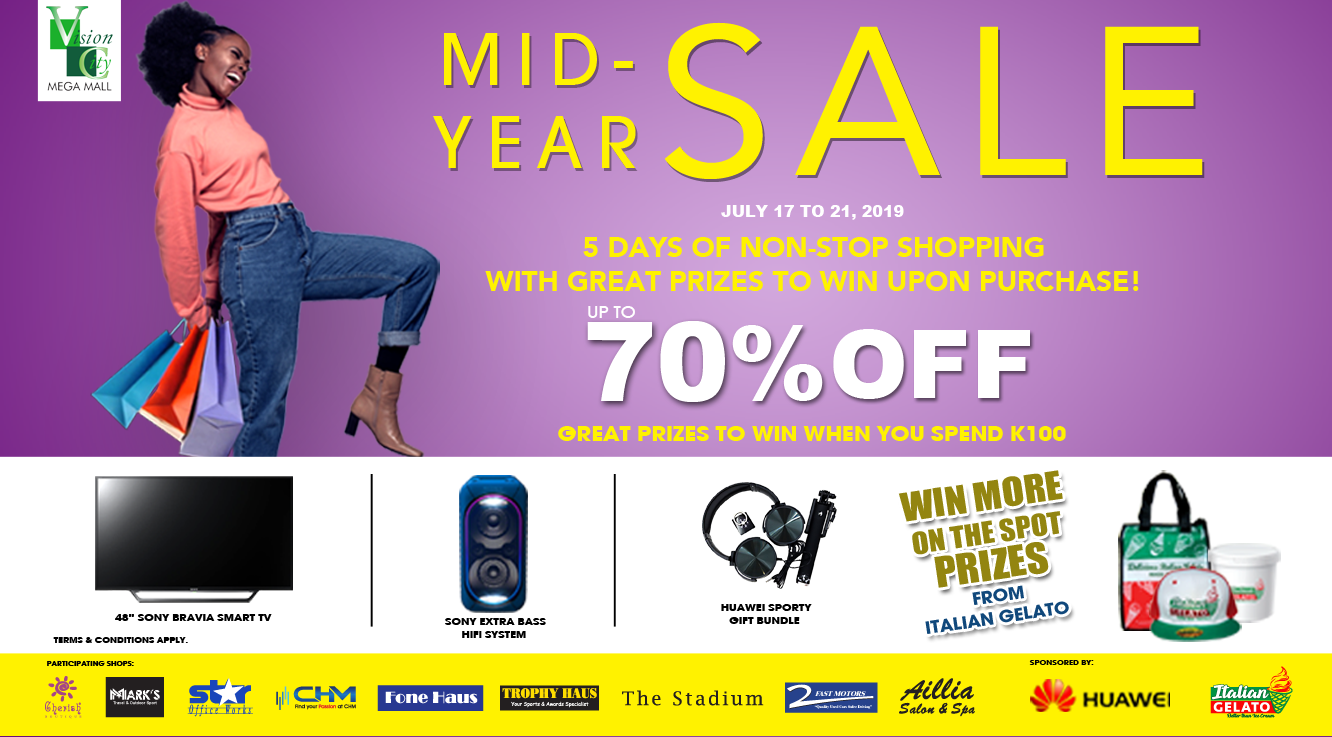 BIG DISCOUNTS AND PRIZES ON MID-YEAR SALE!